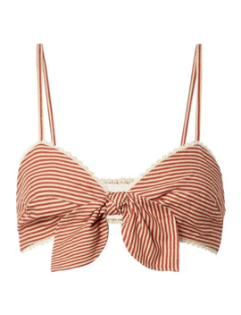 tilly-lace-trimmed-striped-woven-bralette by miguelina