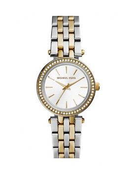 Mini Darci Two Tone Numberless Watch by Michael Kors