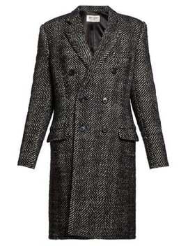 double-breasted-wool-blend-herringbone-coat by saint-laurent