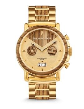 chronograph-gold-zeabrawood-watch by original-grain