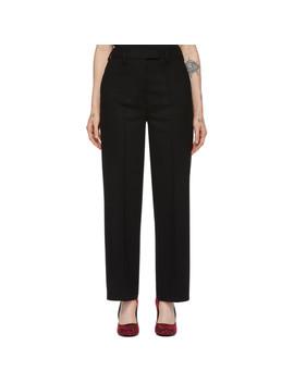 black-wool-straight-trousers by prada