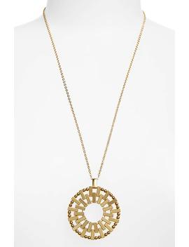 baguette-circle-pendant-necklace by jcrew