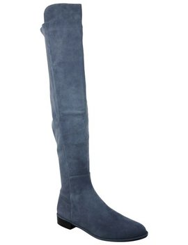 blue-denim-suede-allgood-low-heel-knee-boots_booties by stuart-weitzman