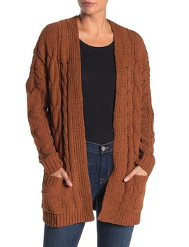 cable-knit-chenille-cardigan by alkamy