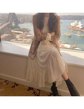 monroll---plain-blazer-_-long-sleeve-midi-chiffon-dress by monroll