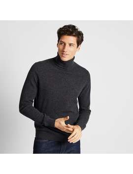 cashmere-turtleneck-long-sleeve-sweater by uniqlo