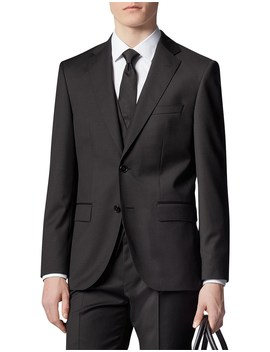 slim-fit-business-shirt-in-cotton-poplin by hugo-boss