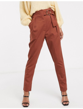 yas-high-waist-wide-leg-pants-with-wide-belt by yas