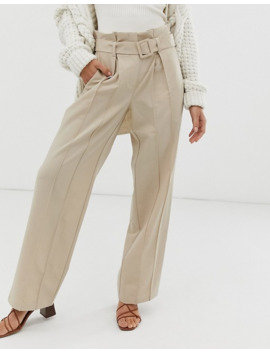 yas-wide-leg-pants-with-belt-detail by yas