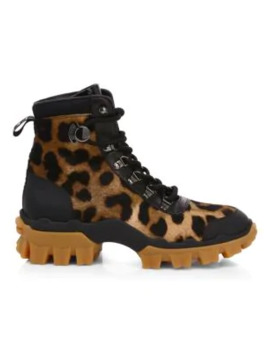 helis-leopard-print-calf-hair-&-leather-hiking-boots by moncler