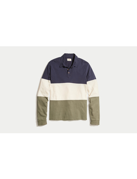 Seville Longsleeve Polo by Marine Layer