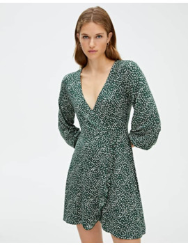 mini-dress-with-3_4-sleeves by pull-&-bear