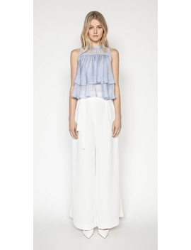 Stripe Tiered Frill Top by Cue