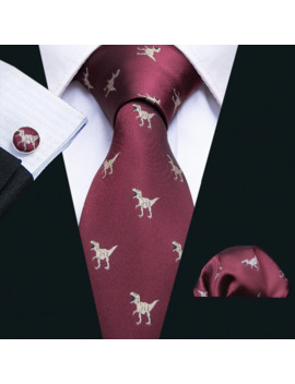 2018-new-arrival-mens-ties-dinosaur-pattern-red-mens-wedding-neckties-85cm-necktie-business-silk-ties-for-men-tie-fa-5060 by aliexpresscom