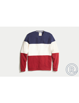 E Spun Colorblock Sweatshirt by Marine Layer