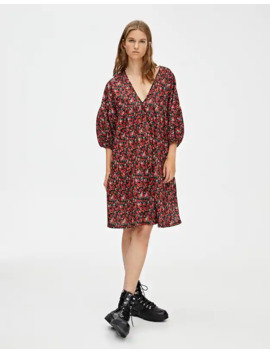oversized-printed-dress by pull-&-bear