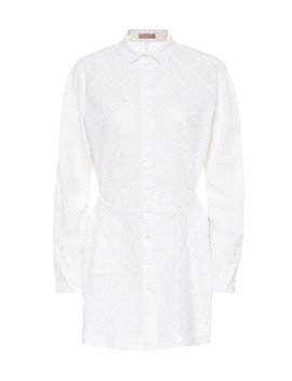 embroidered-wool-mousseline-shirt by alaïa