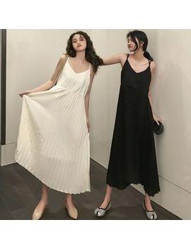 mikiko---strappy-midi-chiffon-dress by mikiko