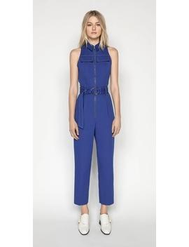 Cobalt Zip Front Jumpsuit by Cue