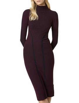 simona-long-sleeve-rib-sweater-dress by french-connection