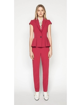 berry-double-weave-slim-pant by cue