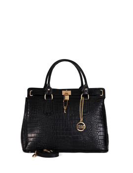 Rezia Black Leather Grab Bag by Mia Tomazzi