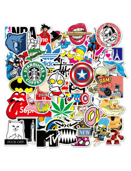 100-skateboard-stickers-bomb-vinyl-laptop-luggage-decals-dope-sticker-lot-cool by unbranded