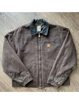 vintage-carhartt-michigan-blanket-lined-heavy-rancher-chore-utility-worker-coat-jacket by vintage  ×  carhartt  ×