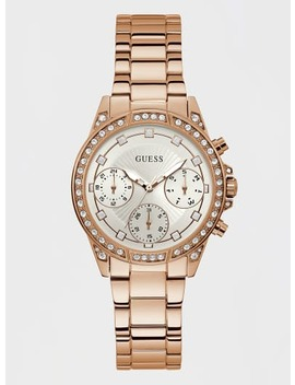 rhinestone-case-and-dial-watch by guess