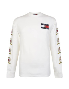 Logo Long Sleeved T Shirt by Tommy Jeans