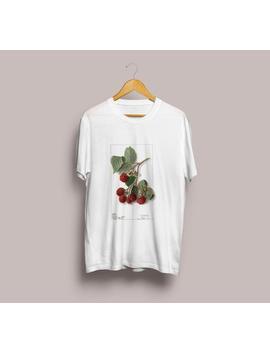 lampone-illustrazione-maglietta-unisex-illustrazione-botanica,-t-shirt-lampone,-frutta-illustrazione-di-t-shirt,-berry,-botanica-arte-s-m-l-xl by etsy