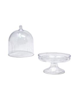 clear-acrylic-mini-cake-stand,-3-inch,-12-count by firefly-imports