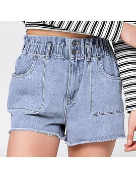 Sbrn Stitched Up Denim Shorts   Light Blue by Target