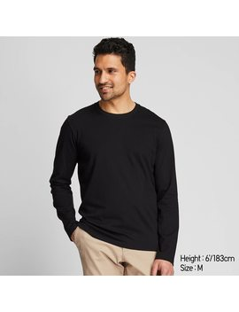 t-shirt-manches-longues-coton-supima-homme by uniqlo