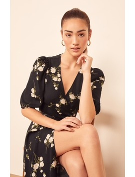 christa-puff-sleeve-wrap-dress by reformation