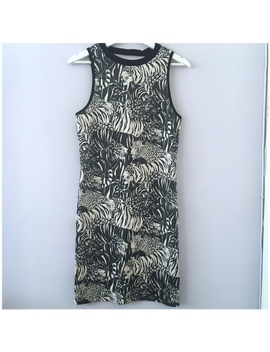 brand-new-topshop-animal-print-mini_midi-dress-with by depop
