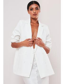 sofia-richie-x-missguided-white-oversized-tailored-jacket by missguided