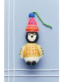 cozy-penguin-ornament by anthropologie