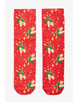 X Mas Corgi Socks by Monki