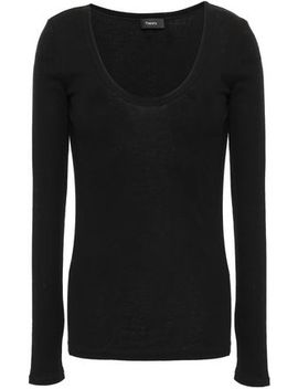 ribbed-cotton-and-cashmere-blend-top by theory