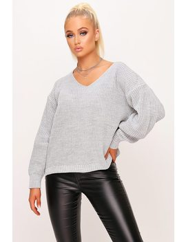light-grey-oversized-knitted-jumper by i-saw-it-first