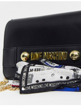 love-moschino-logo-bag-with-scarf by love-moschino