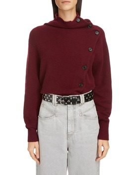 asymmetrical-button-cashmere-sweater by isabel-marant