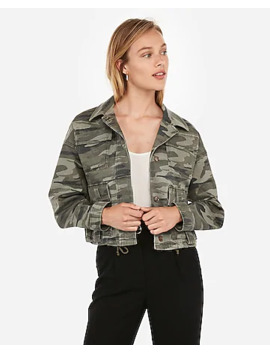 camo-cropped-military-jacket by express
