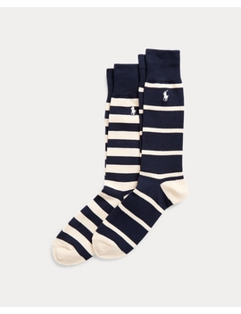Striped Dress Sock 2 Pack by Ralph Lauren