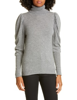 leg-of-mutton-sleeve-turtleneck-cashmere-sweater by autumn-cashmere
