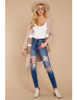 Falling For Adventure Blush Multi Stripe Coat by Fable