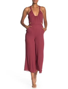 wrapped-plunge-neck-jumpsuit by bcbgeneration
