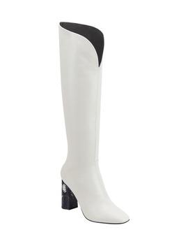 baretta-snakeskin-embossed-heel-knee-high-boot by sigerson-morrison