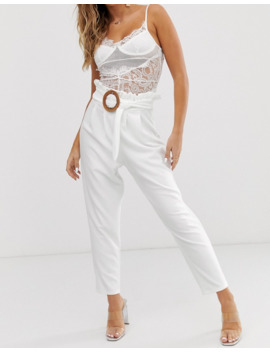 asos-design---pantalon-taille-haute-avec-ceinture-en-rotin by asos-design